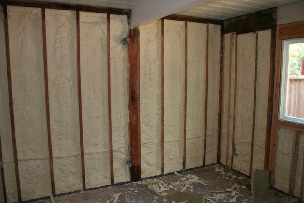 spray foam insulation in our eichler walls marin homestead
