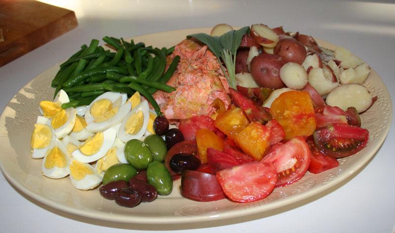 Salmon Nicoise Salad | Marin Homestead