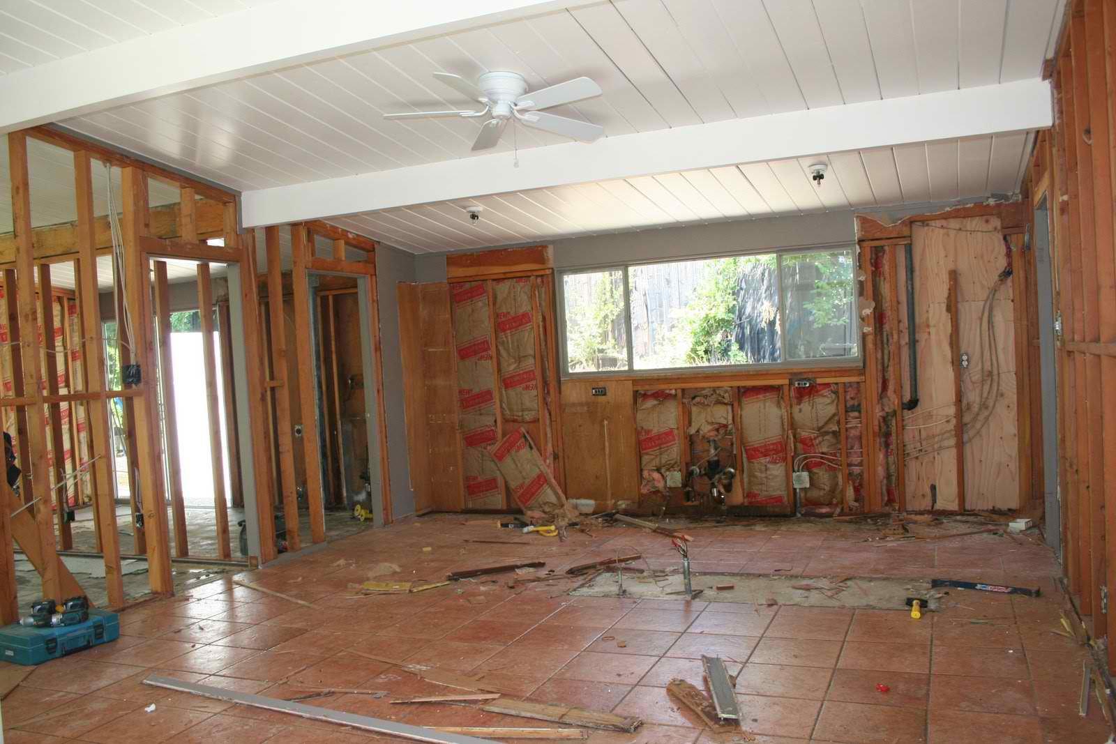 Eichler demo pictures, renovation begins