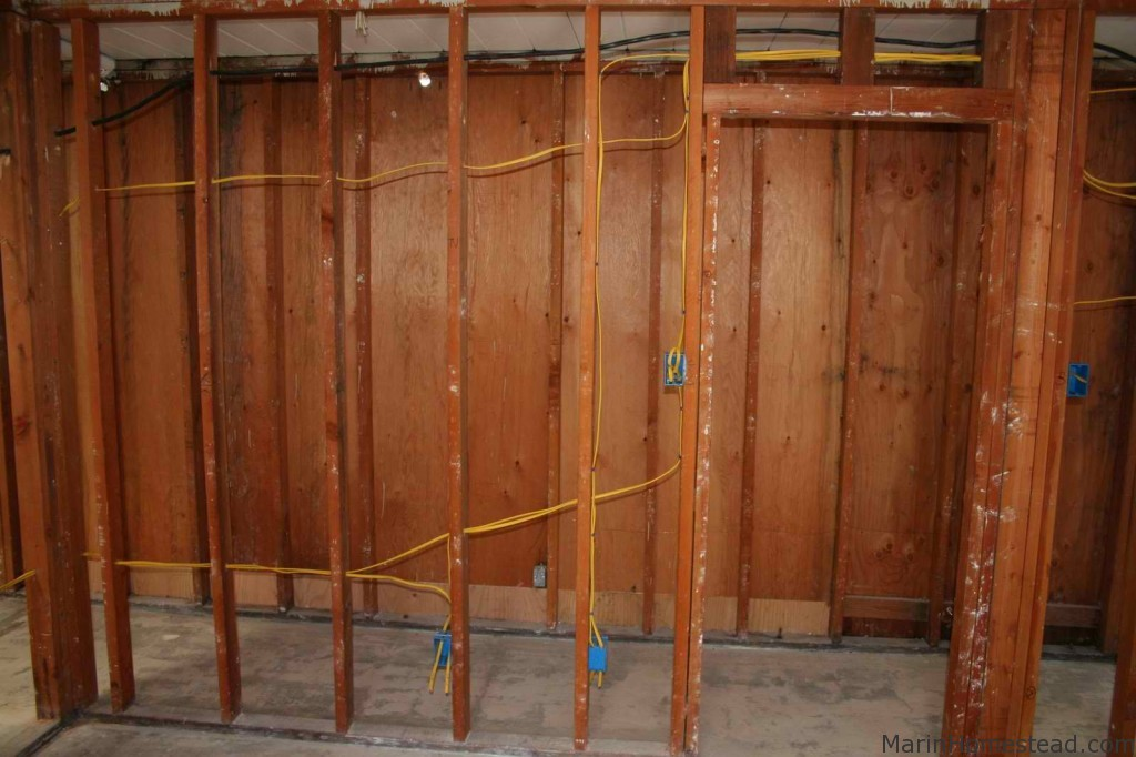 Eichler wiring upgrade romex installation | Marin Homestead
