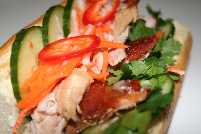 Roasted Pork Bahn Mi Vietnamese Sandwich