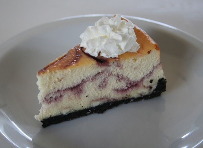Cheesecake Factory White Chocolate Truffle and Raspberry Cheesecake