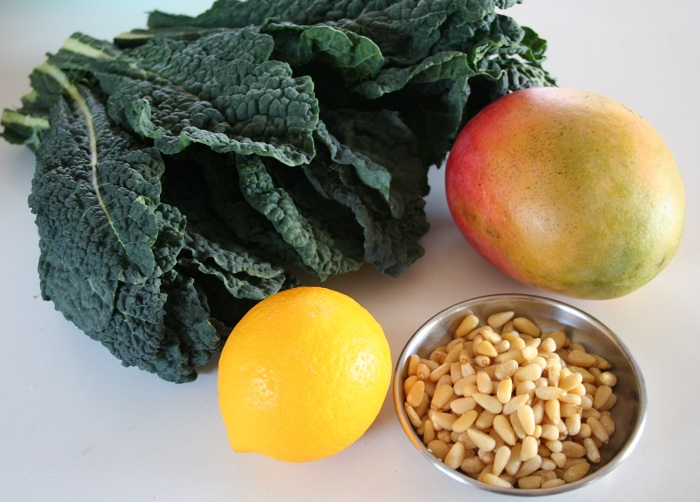 Massaged Kale & Mango Salad (Inspired by Aarti)