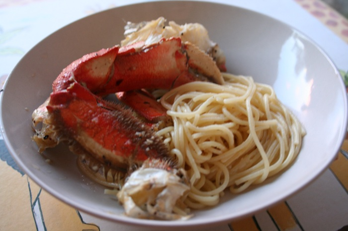 Garlic Roasted Crab and Truffle Noodles (Inspired by Thanh Long & Crustaceans)