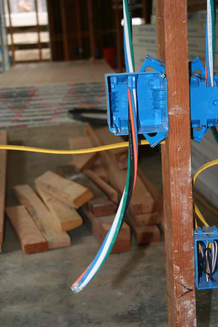 How to install data cable (aka structured wiring) in an Eichler