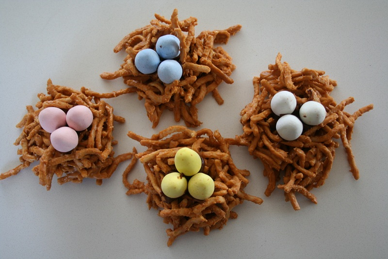 Butterscotch Bird's Nest Cookies | Easter or Springtime Treat