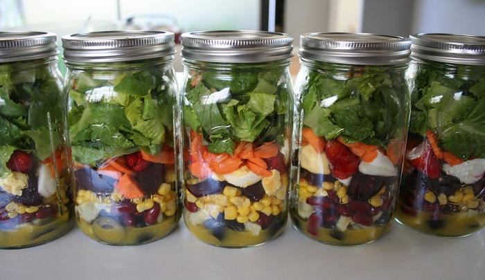 Salad in a Jar | Canning Jar Uses