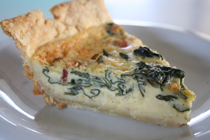 Swiss Chard, Leek & Bacon Quiche
