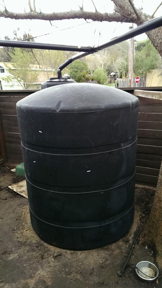 1000 Gallon Rainwater Collection and Irrigation Pump System