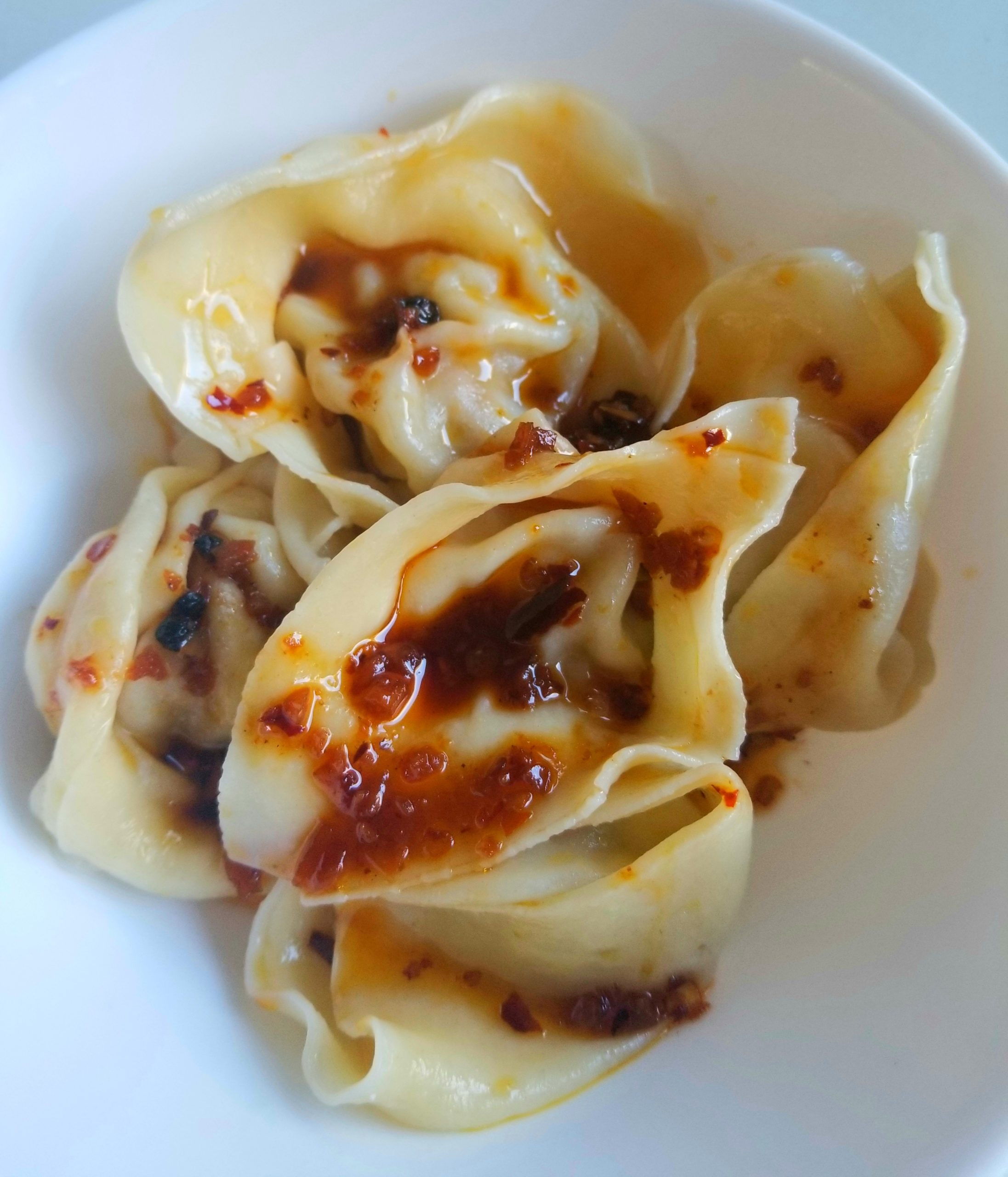 Pork Wontons in a Spicy Chili Oil