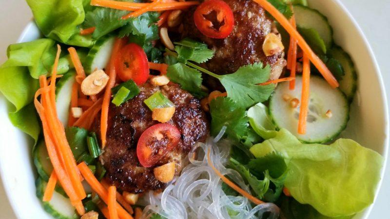 Bun Cha (Vietnamese Lemongrass Meatballs)